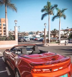 Enjoy a day out on a luxury Chevrolet Camaro Cabrio