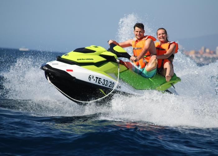 Excursión en moto de agua en Las Galletas