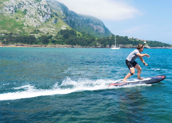 Glide effortlessly through the water with this Electric Surf experience