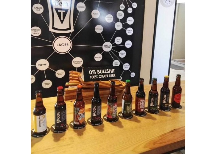 Guided tour of a brewery with beer tasting and lunch or dinner