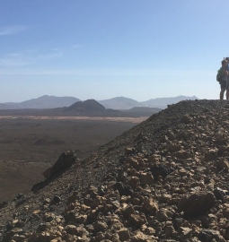 Hike up a volcano and see an organic farm on Fuerteventura
