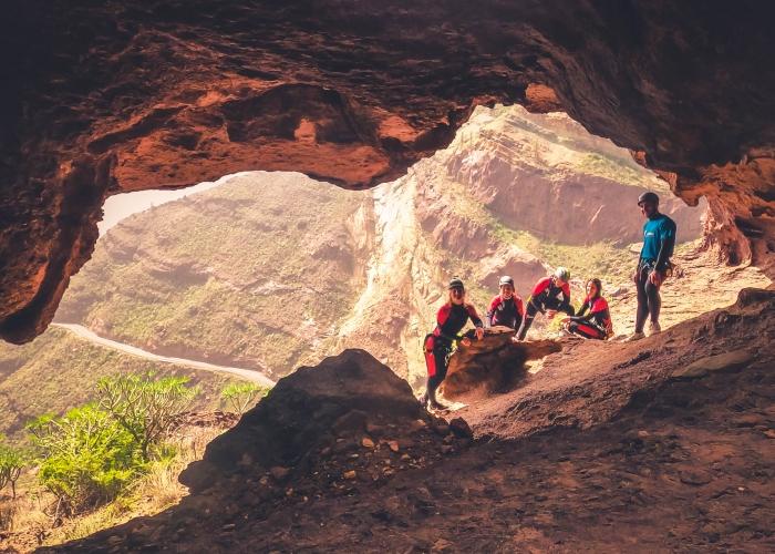 Prueba el barranquismo en un entorno precioso en Gran Canaria