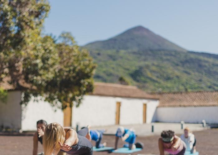 Relaxing weekend getaway with outdoor yoga