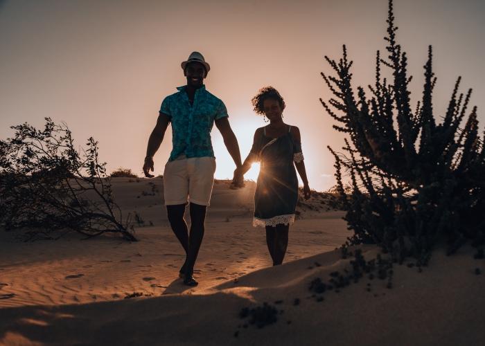 Sesión de fotos en las dunas de Fuerteventura