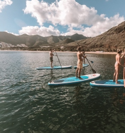 SUP class in the gorgeous Las Teresitas beach