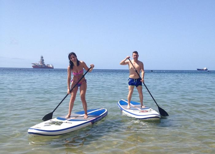 SUP class in the gorgeous Las Teresitas beach