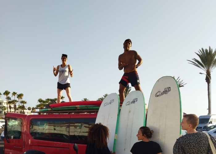 Surf classes all over the south of Tenerife