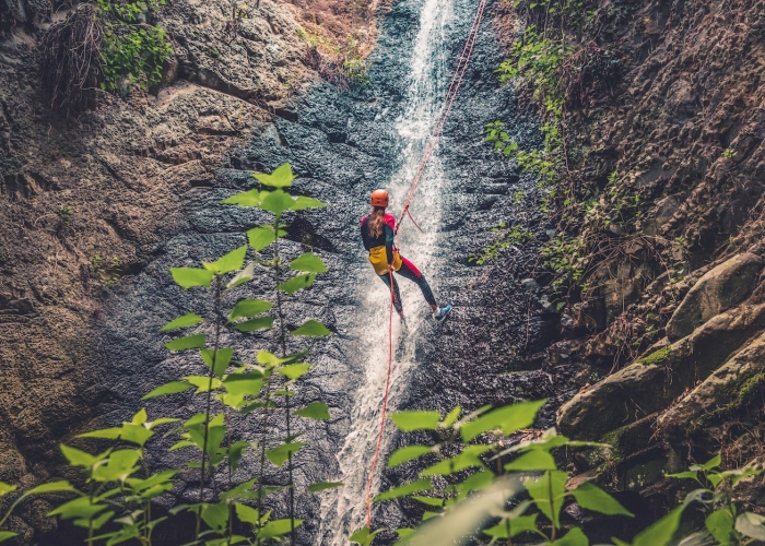 Try out Canyoning in a beautiful setting on Gran Canaria