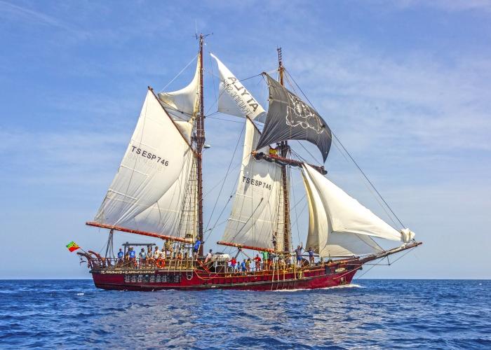 Un viaje de aventura en un barco pirata