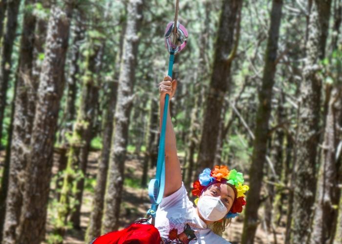 Vive una aventura en la copa de los árboles en el parque forestal más grande de Canarias